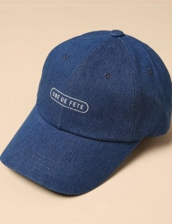 [uniere] Fete Cotton Cap (denim)