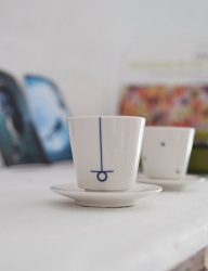 [SOROSI] Hangeul pattern teacup set(hieut)