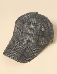 [uniere] basic check cap (grey)