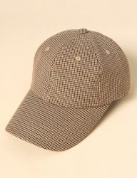 [uniere] glen check cap