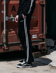 [SHETHIS COMMA] ASAP TRANING PANTS(BLACK/WHITE)