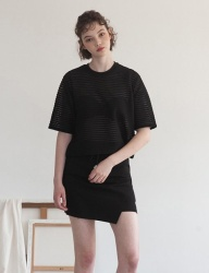 [TARGETTO] LACE CROP TOP BLACK