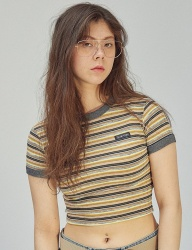 [SCULPTOR] STRETCHY RINGER TEE [YELLOW]