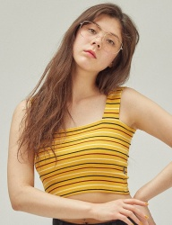 [SCULPTOR] LABELED TANK TOP [YELLOW]
