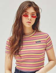 [SCULPTOR] BOLD STRIPED TEE [BABYBLUE]