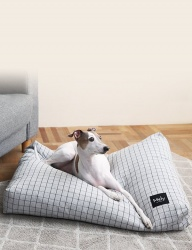 [Mely] Mely Cushion Check Gray
