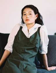 [oneninenineone] PUFF ROLLDED-UP SHIRTS BLOUSE_STRIPE
