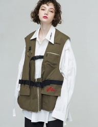 [THE GREATEST] VEST KHAKI