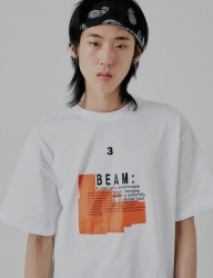 [DRUG WITHOUT SIDE EFFECT] BEAM Half T-Shirts (White)