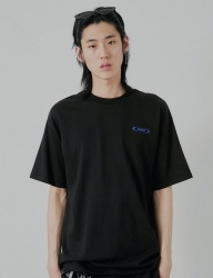 [DRUG WITHOUT SIDE EFFECT] S-ROUND Half T-Shirts (Black)