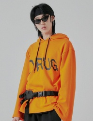 [DRUG WITHOUT SIDE EFFECT] LCD Overfit Hoodie (Orange)