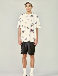 [HEICH BLADE] COLLAGE ALL OVER GRAPHIC TEE