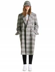 [HEICH BLADE] GLEN CHECK TAILORED COAT