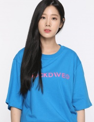 [DUCKDIVE] +82 T-SHIRTS_BLUE/NEON PINK