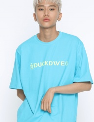 [DUCKDIVE] +82 T-SHIRTS_AQUA BLUE/NEON YELLOW