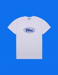 [DUCKDIVE] ROUND WW. T-SHIRTS_WHITE