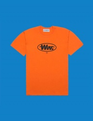 [DUCKDIVE] ROUND WW. T-SHIRTS_ORANGE
