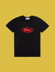 [DUCKDIVE] ROUND WW. T-SHIRTS_BLACK