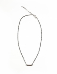 [13month] THIN CHAIN NECKLACE (SILVER)