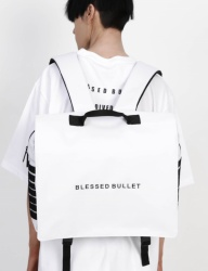 [BLESSED BULLET] SIGNATURE MESSENGER BACKPACK [White]
