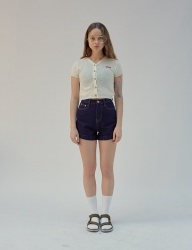 [SCULPTOR] HIGH WAIST DENIM SHORTS