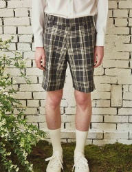 [by Standard] Charcoal Gray Check Shorts