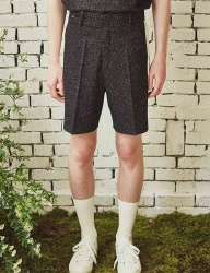 [by Standard] Black Homespun Shorts