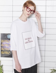 [UMM] NEW COOL OVERFIT 2/1 T-SHIRT _ WHITE
