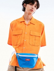 [OVERSIZE HAPPENING] LOGO BELT BAG BLUE