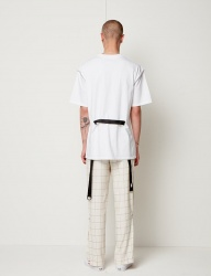 [SEWING BOUNDARIES] BACK WEBBING STRAP TEE WHITE