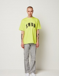 [SEWING BOUNDARIES] SWBD LOGO BASIC TEE 18SS NEON