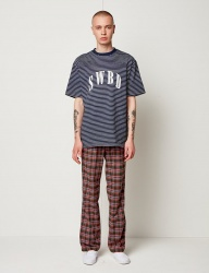 [SEWING BOUNDARIES] SWBD LOGO BASIC STRIPE TEE 18SS NAVY