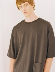 [PRAIRIE] DROP SHOULDER PREMIUM COTTON POCKET 1/2 T-SHIRT