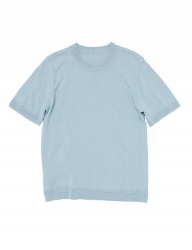 [whatever we want] COTTON ROUND KNIT [S.BLUE]