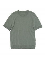 [whatever we want] COTTON ROUND KNIT [KHAKI]