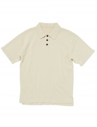 [whatever we want] COTTON POLO KNIT [BUTTER]