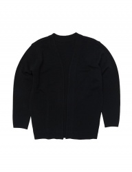 [whatever we want] R/N HERRINGBONE DETAIL CARDIGAN [BLACK]