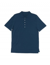 [whatever we want] R/N POLO KNIT [T.BLUE]
