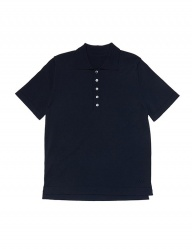 [whatever we want] R/N POLO KNIT [NAVY]