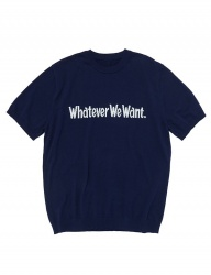 [whatever we want] WHATEVERWEWANT KNIT [NAVY]