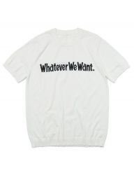 [whatever we want] WHATEVERWEWANT KNIT [IVORY]