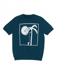 [whatever we want] PALM TREE KNIT [T.BLUE]