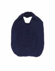 [whatever we want] SMILE KNIT BAG [NAVY]