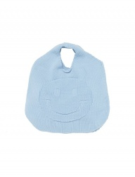 [whatever we want] SMILE KNIT BAG [S.BLUE]