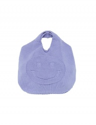 [whatever we want] SMILE KNIT BAG [L.PURPLE]