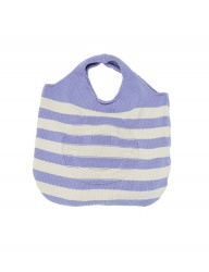 [whatever we want] SMILE STRIPE KNIT BAG [L.PURPLE]
