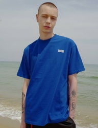 [DRUG WITHOUT SIDE EFFECT] Rubber Label T-Shirts (Blue)
