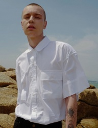 [DRUG WITHOUT SIDE EFFECT] Oversized Cuffs Shirts (White)
