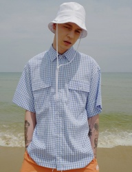 [DRUG WITHOUT SIDE EFFECT] Oversized Cuffs Shirts (Gingham Check)