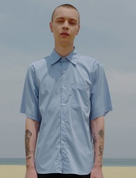[DRUG WITHOUT SIDE EFFECT] Eyelet Basic Shirts (SkyBlue)